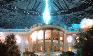 The money shot … the famous exploding White House scene from Independence Day, 1996 – created using a 5ft-high plaster model.