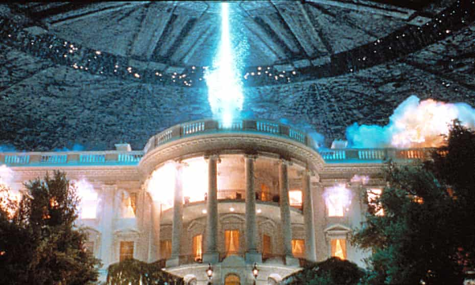 the White House gets blown up by aliens in Independence Day, 1996.