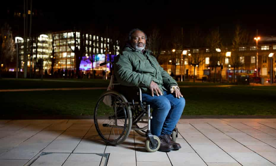 Gbolagade Ibukun-Oluwa, who spends his nights in cafes at Heathrow airport