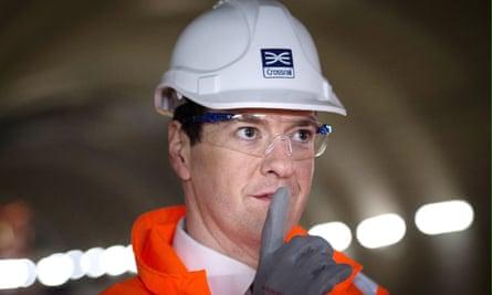 George Osborne in a hard hat