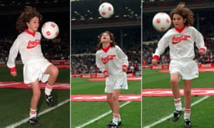 Sonny Pike shows off his skills on the Wembley pitch before the 1996 League Cup final – but a gruelling schedule of commitments took their toll.