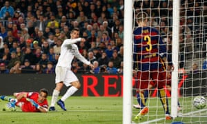 Cristiano Ronaldo strikes to earn ten-man Real Madrid victory at Camp Nou.