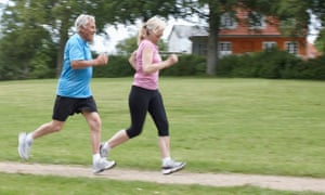 Joggers: a study has linked exercise to a reduction in risk for alcohol-related diseases