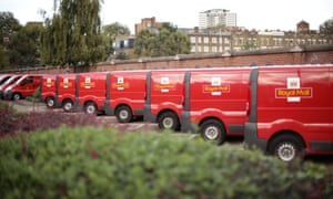 Royal Mail delivery vans, unadorned as per company policy.
