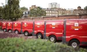 Royal Mail vans in a row
