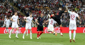 Croatia's Ivan Perisic scores their first goa