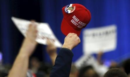 Supporters cheer in support in Louisville, Kentucky.