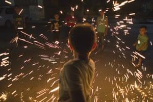 A child celebrates Ramadan