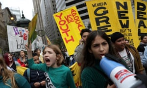 Hundreds of youth climate activists staged a demonstration outside of the BlackRock offices in San Francisco as part of a nationwide youth climate strike in December.