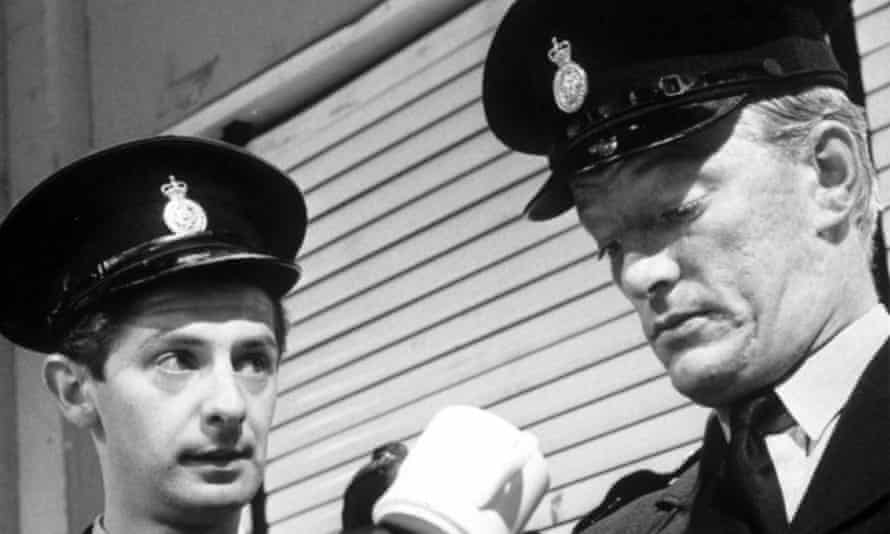 Jeremy Kemp, right, with James Ellis in Z Cars, 1964.