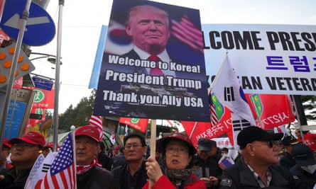 Pro-Trump supporters in South Korea.