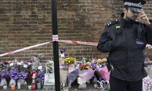 Tributes left for 17-year-old Tanesha Melbourne-Blake, who was killed in a drive-by shooting in Tottenham, London.