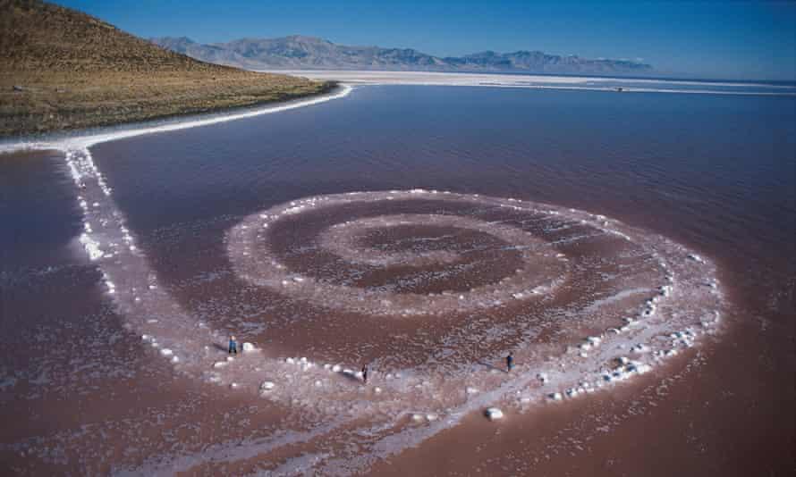 Spiral Jetty, by Robert Smithson.