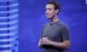 Facebook boss Mark Zuckerberg speaks at the Facebook conference in San Francisco last week.