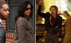 Small screen, big issues: Sanaa Lathan in Shots Fired, left, and Austin P McKenzie in When We Rise.
