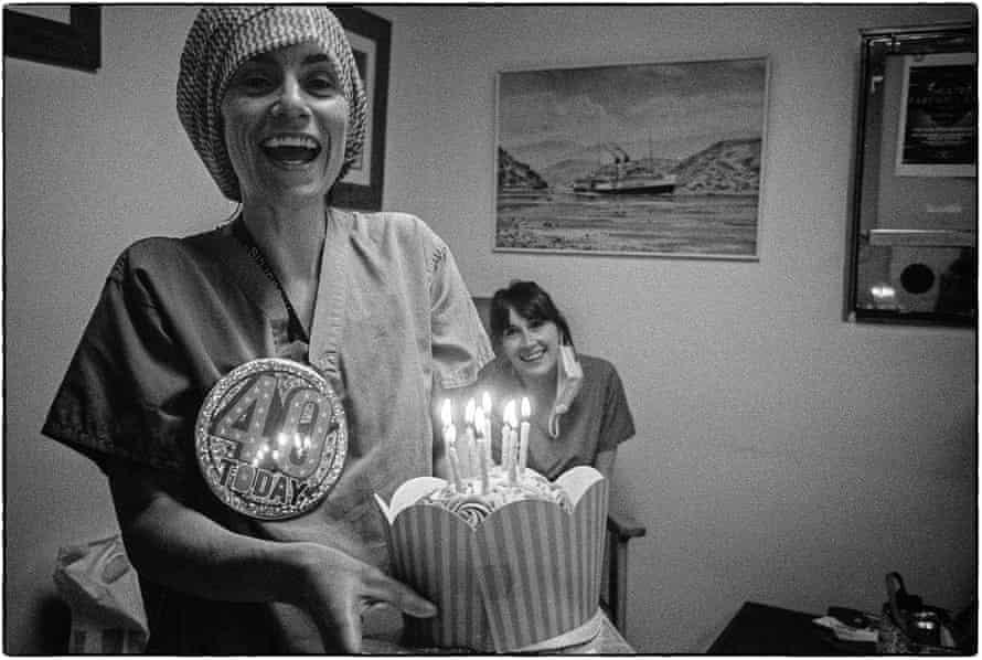 Lauri celebrates her 40th birthday on shift