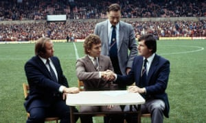 Bryan Robson, Martin Edwards, Ron Atkinson