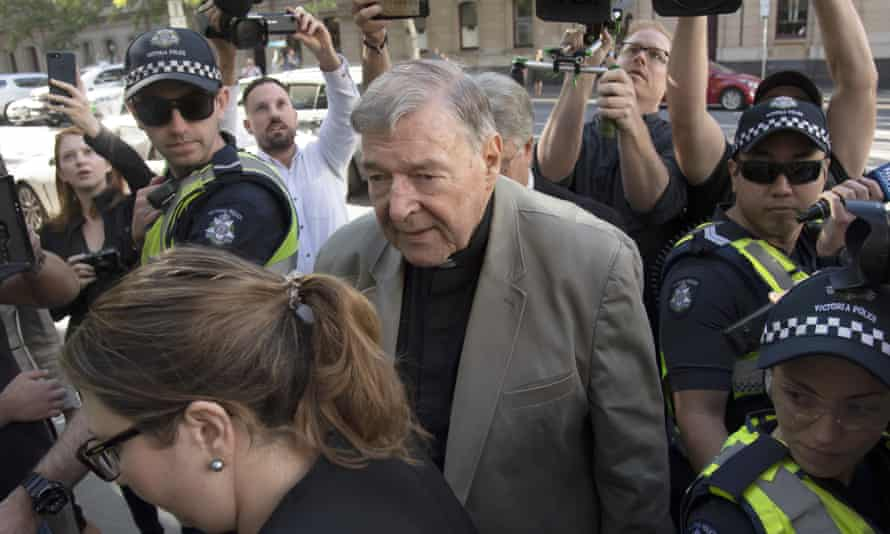 George Pell arriving at court in February 2019.