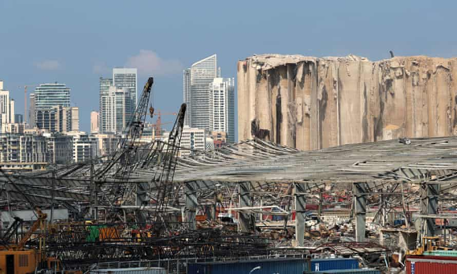 Damage from the explosion in Beirut's port area in August