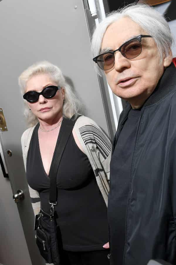 Debbie Harry and Chris Stein of Blondie attending the exhibit at Morrison Hotel Gallery.