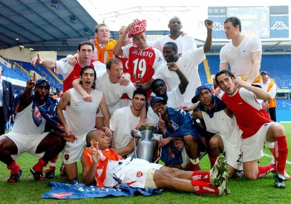 Arsenal are crowned champions for the 2003-04 season after a draw at White Hart Lane