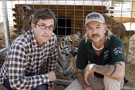 Before Tiger King, there was Louis Theroux's Beware of the Tiger: Theroux with former big cat breeder Joe Exotic.