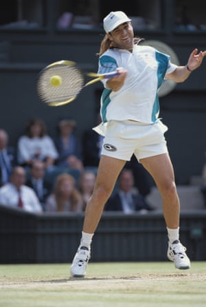 1990sIt was the 1990s and some players were incapable of keeping their tennis whites strictly white … Andre Agassi, known for fluorescent cycling shorts and brashly patterned T-shirts, found the all-white dress code of Wimbledon so restrictive that he reportedly refused to play at the tournament between 1988 and 1990.
