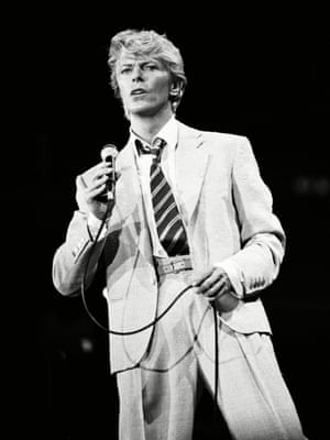 David Bowie in the 1980s