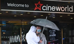 A Cineworld cinema in Leicester Square in central London yesterday