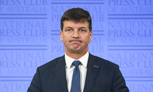 Energy minister Angus Taylor delivers his address to the National Press Club on Tuesday
