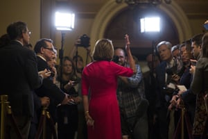 Nancy Pelosi on Capitol Hill on 3 January.