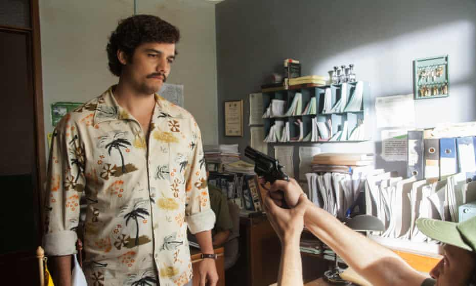 Wagner Moura, bringing a Brazilian touch to Pablo Escobar in Netflix's drama Narcos.