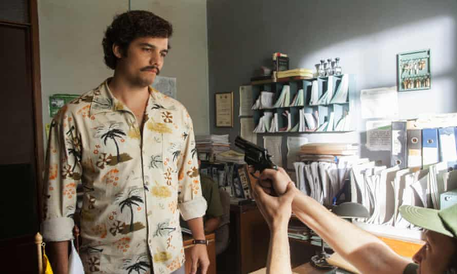 Stand and deliver: Wagner Moura as Pablo Escobar