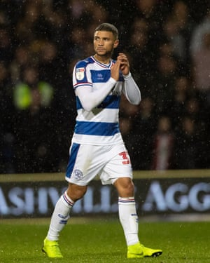 Nahki Wells seen here in action for QPR against Brentford. QPR have risen to 10th in the table after a poor start to the season.