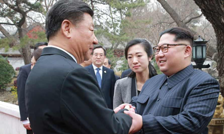 Chinese president Xi Jinping meets North Korean leader Kim Jong-un