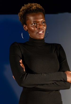 Sheila Atim in Time Is Love at the Finborough: 'radiates power but never seems to impose it'.