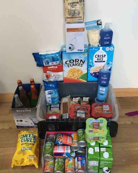 A Guardian reader pictures their stockpile in case of a coronavirus pandemic.