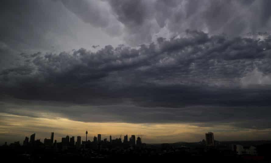 Clouds over Sydney after heatwave