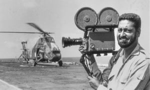 Mohinder Dhillon covering the civil war in Yemen in 1967 on the Royal Navy aircraft carrier HMS Eagle in the waters off Aden.