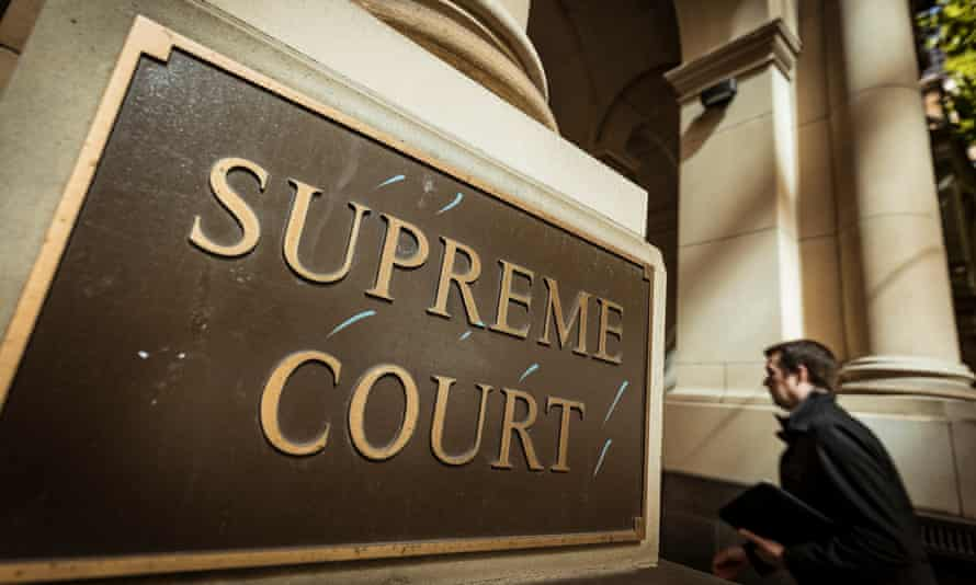 Supreme Court entrance and sign