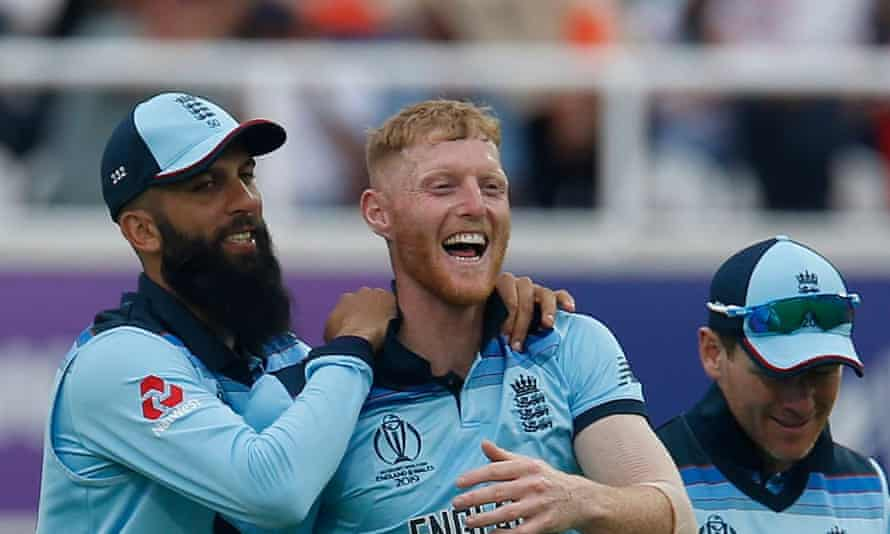 Ben Stokes after his extraordinary catch at the Oval