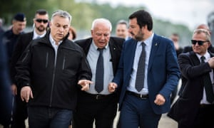Matteo Salvini (right) chats with Viktor Orban (left)