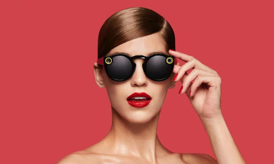 Spectacles have a camera one side and a light to show you they're recording the other.