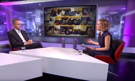 Jordan Peterson being interviewed by Cathy Newman for Channel 4 News