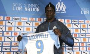 Mario Balotelli is unveiled as a Marseille player after leaving Nice.