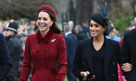 The Duchess of Cambridge (left) and the Duchess of Sussex