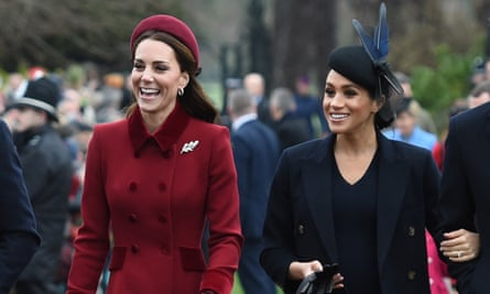 Duchess of Cambridge (left) and the Duchess of Sussex