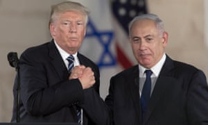Donald Trump and Benjamin Netanyahu in Jerusalem in May 2017.
