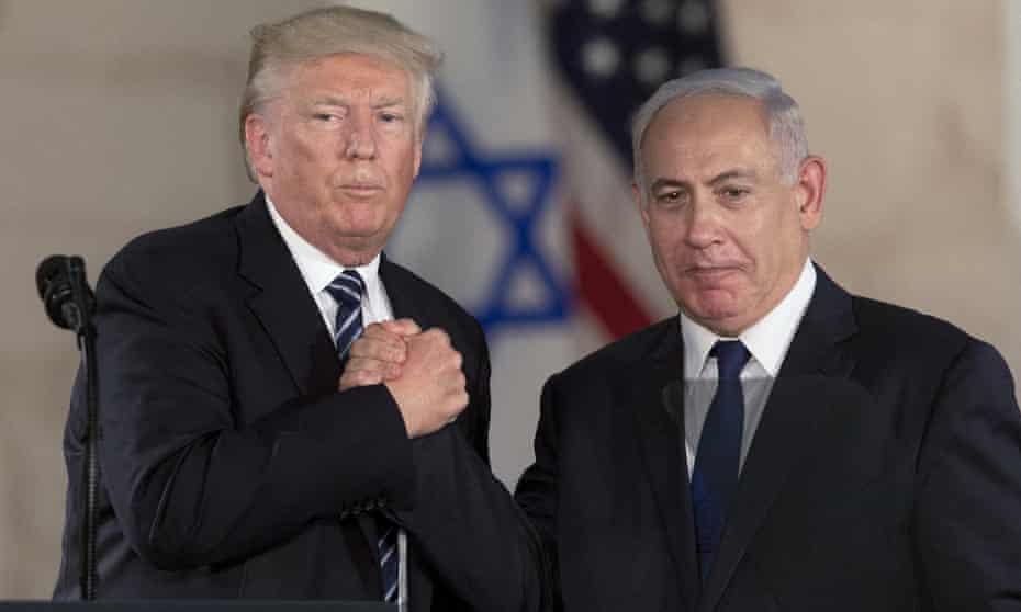 Donald Trump and Benjamin Netanyahu in Jerusalem in May 2017.