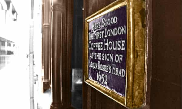 London's first coffee house over 350 years ago.